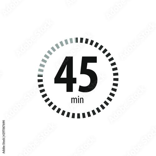 Cuadros en Lienzo  45 minutes stopwatch symbol