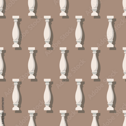 Photo Seamless pattern with balusters