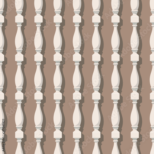Seamless pattern with balusters Canvas Print