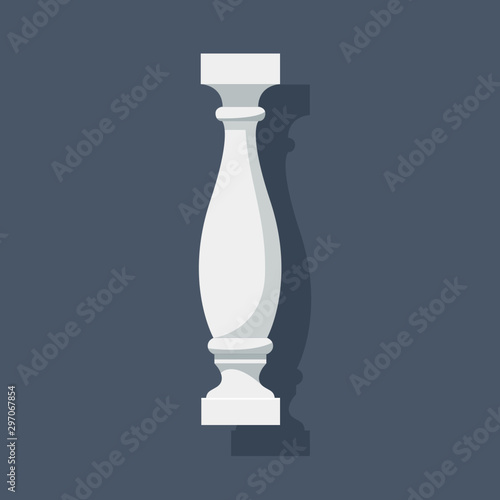 White baluster with shadow Wallpaper Mural