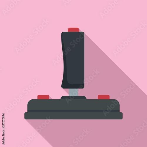 Joystick icon. Flat illustration of joystick vector icon for web design