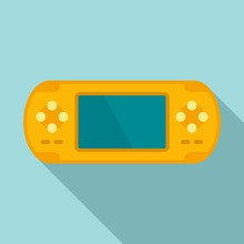 Yellow Portable Console Icon. ...