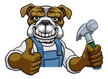A Bulldog Cartoon Animal Masco...