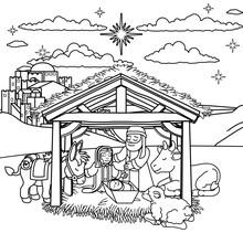 A Christmas Nativity Scene Col...