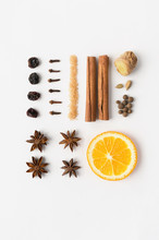 Isolated Mulled Wine Ingredien...