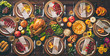 canvas print picture - Thanksgiving celebration traditional dinner