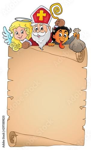 Cadres-photo bureau Enfants Saint Nicholas Day topic parchment 1