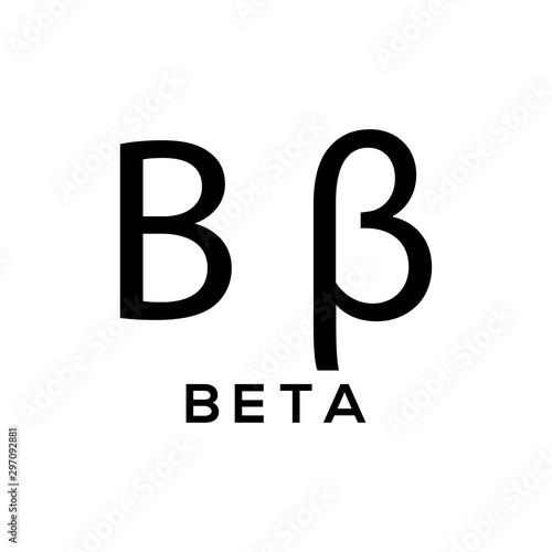 Greek alphabet : beta signage icon Canvas Print