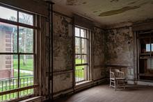 Former Doctors Quarters In The Abandoned Ellis Island Hospital