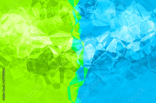 Multicolored divided mosaic pattern as abstract polygonal background.