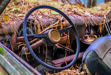 Steering Wheel In Wrecked Car ...