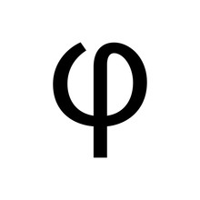 Greek Alphabet : Phi Signage Icon