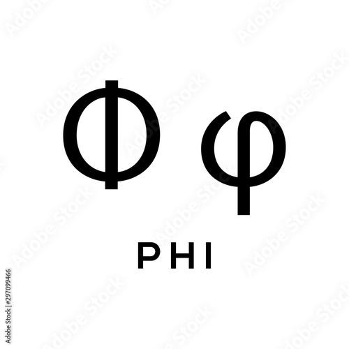 greek alphabet : phi signage icon фототапет