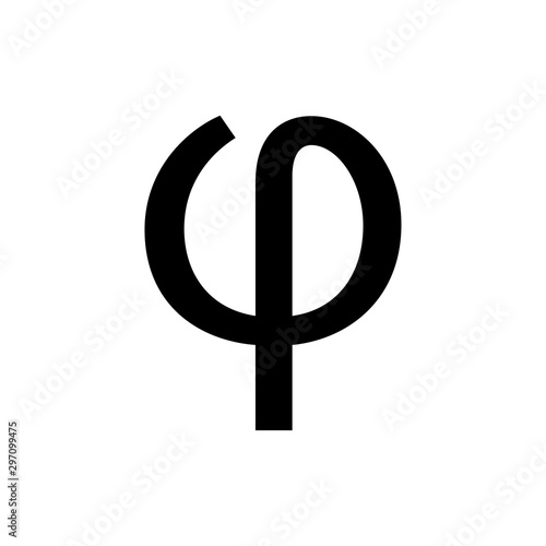 Photo greek alphabet : phi signage icon