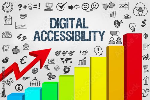 Digital accessibility Wallpaper Mural