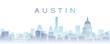 canvas print picture - Austin Transparent Layers Gradient Landmarks Skyline