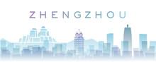 Zhengzhou Transparent Layers Gradient Landmarks Skyline