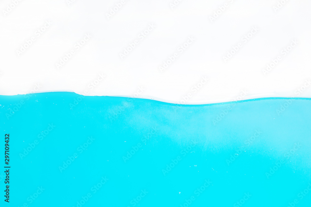Fototapety, obrazy: Water Surface Splash and bubbles . on white background.