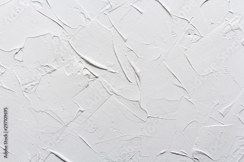 Fotomural white texture putty wall, rough grunge background