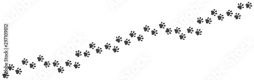 Leinwand Poster Paw foot trail