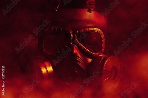 Fotografie, Tablou  Gas Mask Protester