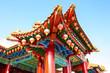 Leinwanddruck Bild - Beautiful Chinese temple in Malaysia, Asia
