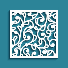 Square Tile With Cutout Paper ...
