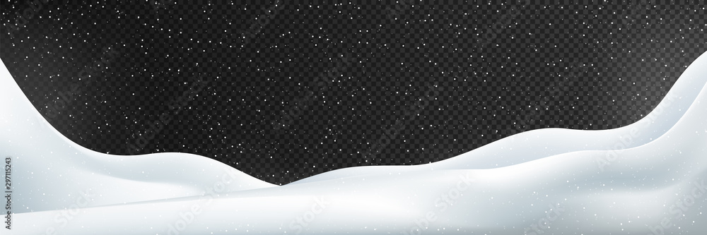 Fototapety, obrazy: snow vector. Snow vector illustration. Winter illustration Isolated on transparent background