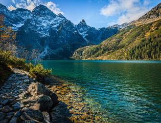 Fototapeta Góry Mnich widziany z Morskiego Oka, Jesień, Tatry