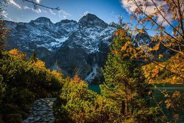 Panel Szklany Góry Mieguszowiecki Szczyt, Morskie Oko, Jesień, Tatry