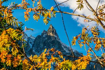 Obraz na Szkle Góry Mnich widziany z Morskiego Oka, Jesień, Tatry