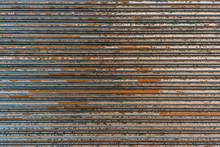 Old Metal Roller Door Background Photo