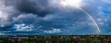 Tęcza nad Krakowie, zmiana pogody