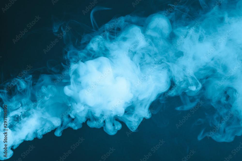 Fototapety, obrazy: Cloud of vapor. Dark blue background