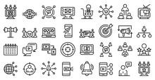 Remarketing Icons Set. Outline...