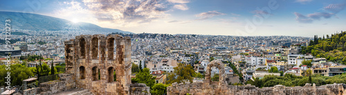 athens vue from the acropolis Canvas Print
