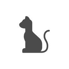 Domestic Cat Icon Vector. Linear Style Sign For Mobile Concept And Web Design. Domestic Cat Symbol Illustration. Pixel Vector Graphics - Vector.
