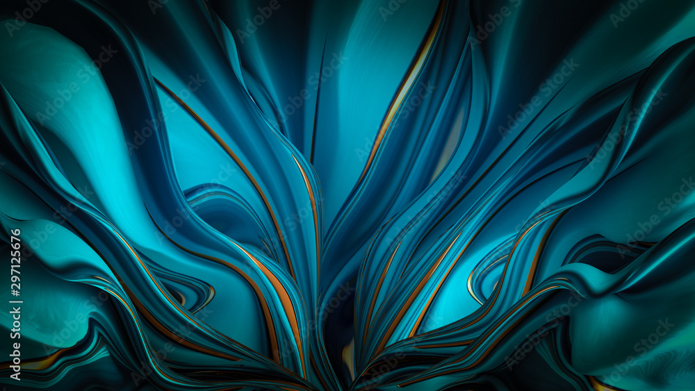 Fototapety, obrazy: Bright background with a volumetric pattern and print. 3d illustration, 3d rendering.