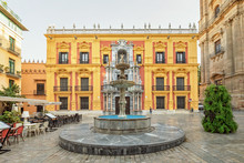 Plaza Del Obispo In Malaga, Sp...