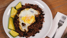 Black Rice With Black Beans. D...
