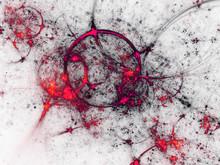 Red Fractal Barbed Wire, Digital Artwork For Creative Graphic Design