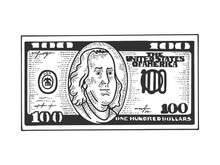 One Hundred USA Dollars Cash W...