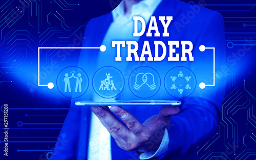 Conceptual hand writing showing Day Trader Canvas Print