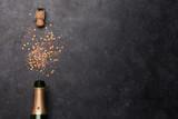 Fototapeta Tulipany - Champagne bottle holiday template