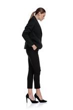 Businesswoman Waiting In Line ...