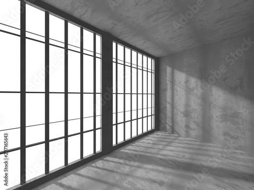 Wall Murals Martial arts Dark concrete empty room. Modern architecture design