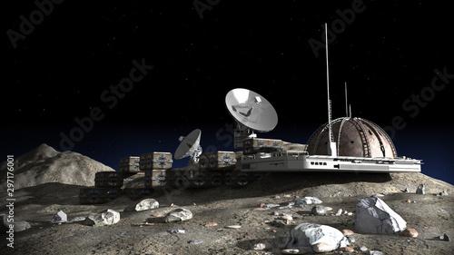 Foto Lunar base illustration