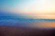 A peaceful sea and a shore