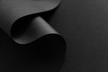 Black Monochrome Paper Abstract Background Design
