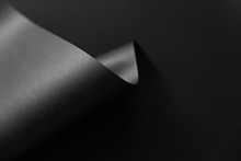 Black Monochrome Paper Abstrac...